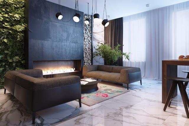 03. Interior Rumah Minimalis dengan Taman Indoor