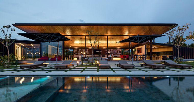 Maisons Modernes En Bois. Deco Interieur Bois Maison. Interieur ...