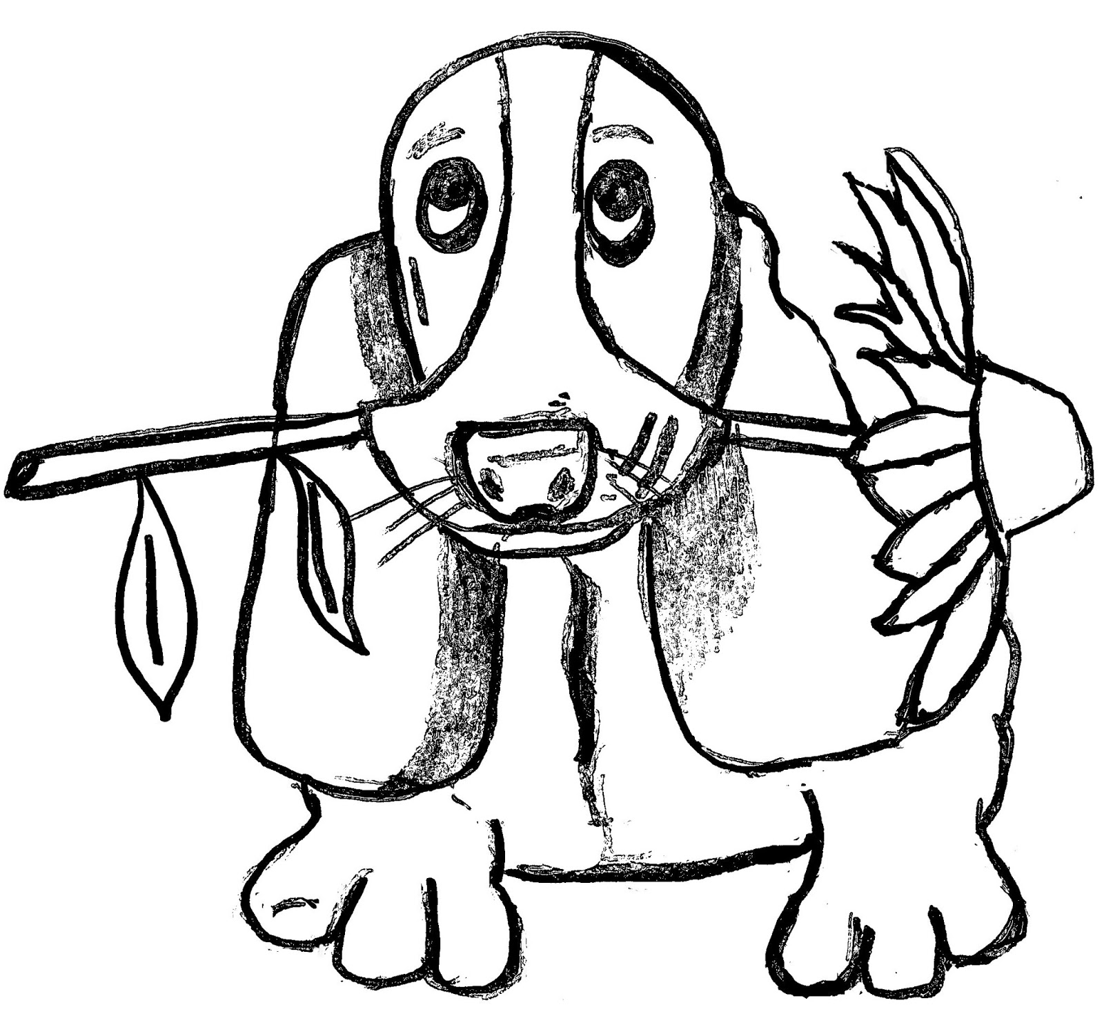 Christian Images In My Treasure Box: Home Drawn Dog
