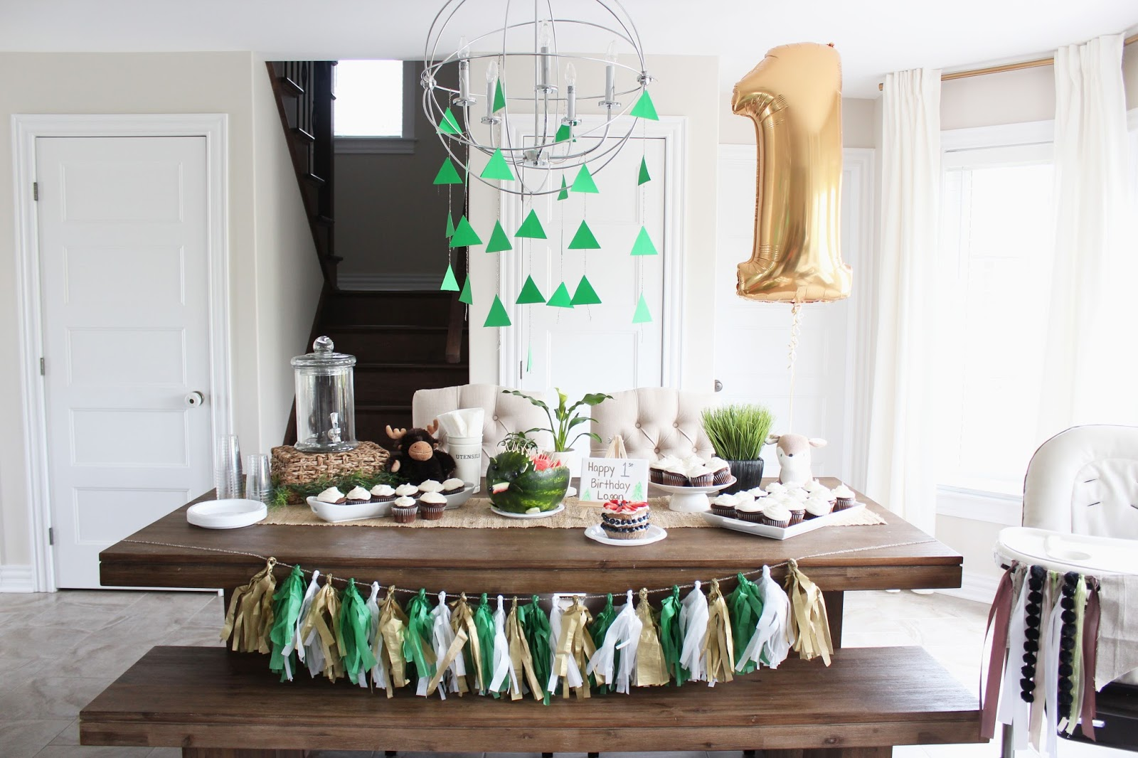 1st Birthday Party Theme Woodland house of hire