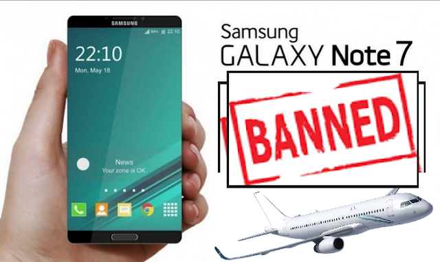 Image result for FAA note 7 ban announcement