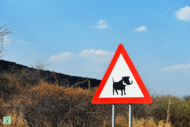 Señales de tráfico en Namibia