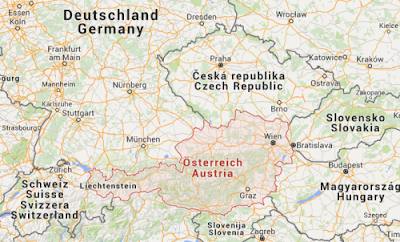 Austria map picture
