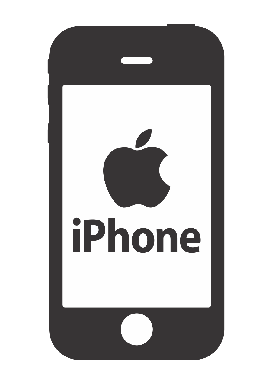 Iphone Logo Vector ~ Format Cdr, Ai, Eps, Svg, PDF, PNG