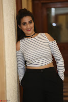 Manjusha in sleevelss crop top and black skirt at Darshakudu pre release ~  Exclusive Celebrities Galleries 022.JPG