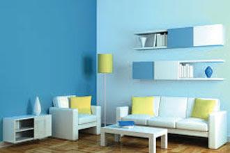warna cat ruang tamu 2 warna yang sederhana