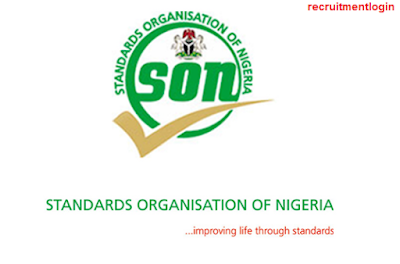 2018 SON Recruitment | Application Form Portal@www.son.gov.ng