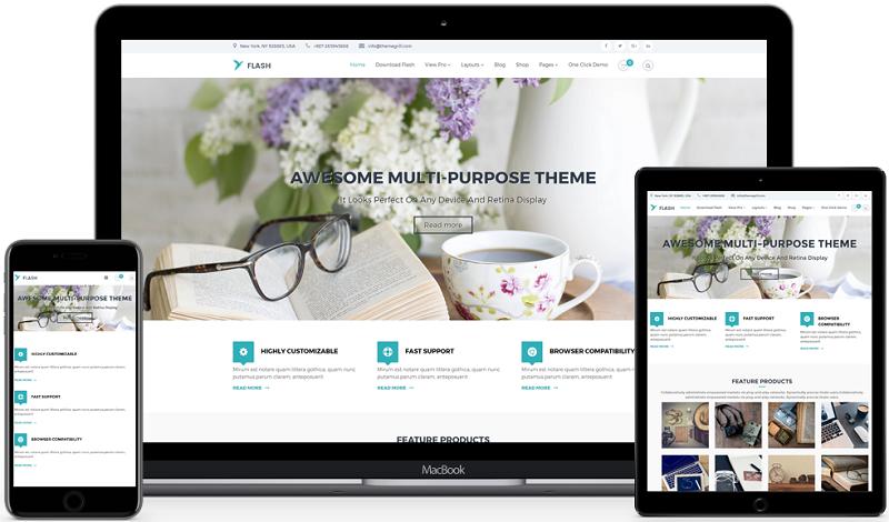 Flash MultiPurpose WordPress Theme Free Download
