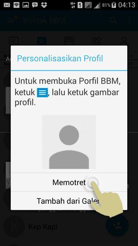 Tambahkan Foto Profil BBM