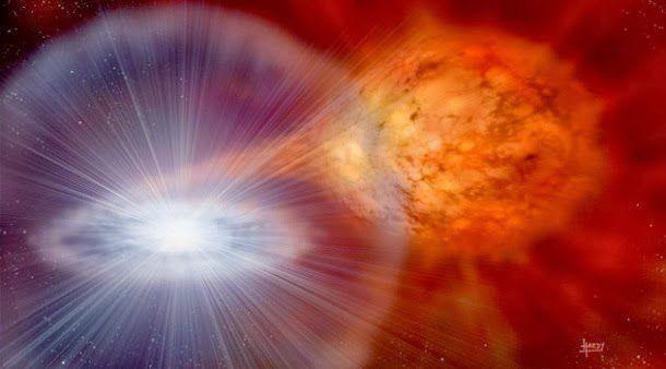 Una galaxia más pequeña es la víctima ideal
