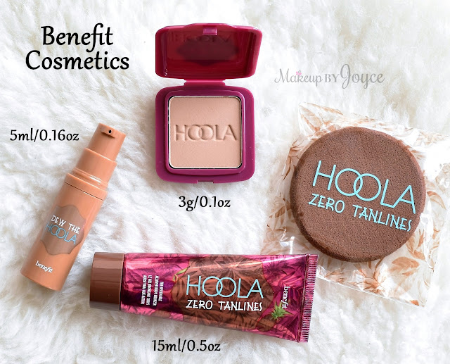 Benefit Hoola Deluxe Sample Set Kit Matte Bronzer Dew the Hoola Soft Matte Liquid Bronzer Zero Tanlines Allover Body Review