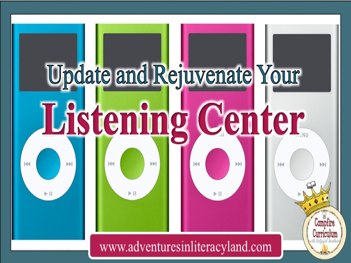 Research says children that listen to reading become fluent readers themselves.  Wouldn't you like to have your students listening to quality texts and gaining fluency skills at the same time?  If you create an updated and relevant listening center they will be in no time!  Read this post to find frugal ways to create a listening center that is relevant and fun for your classroom!