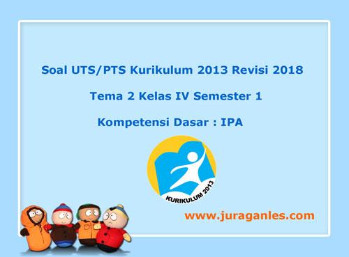 Soal Uts Pts Tema 2 Ipa Kelas 4 Semester 1 K13 Revisi 2018
