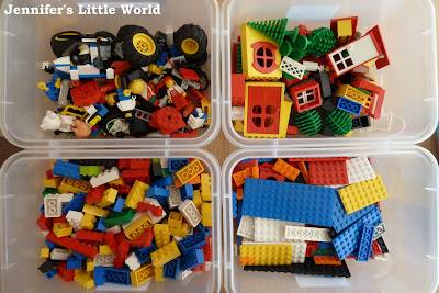 How I organised our Lego