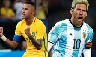 Brasil vs Argentina en Eliminatorias Sudamericanas Rusia 2018