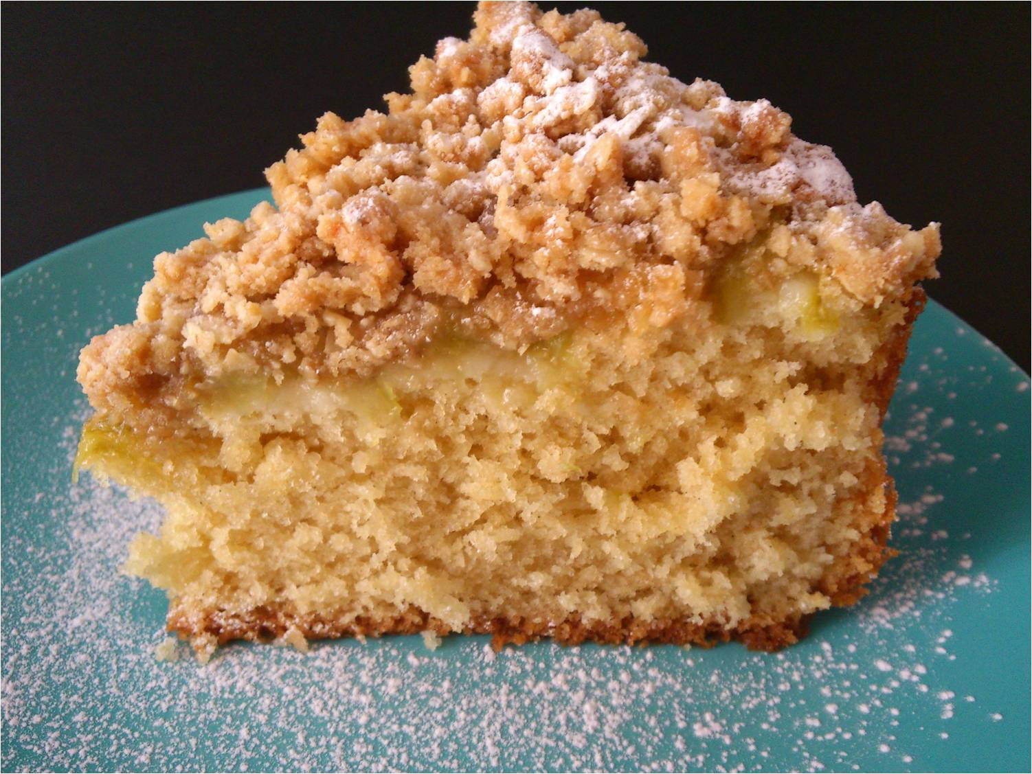 Apple Rhubarb Crumble Cake Recipe