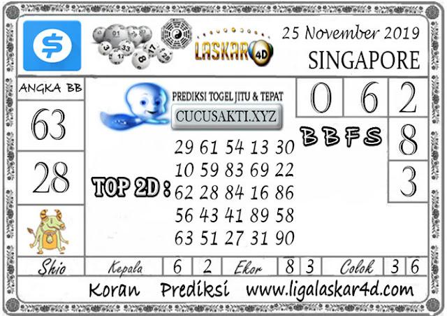 Prediksi Togel SINGAPORE LASKAR4D 25 NOVEMBER 2019