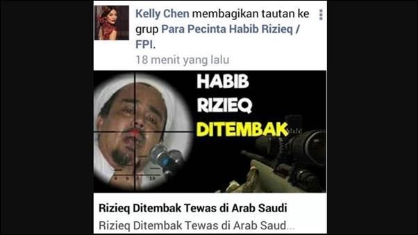 Beredar Berita Habib Rizieq Tewas Ditembak di Arab Saudi