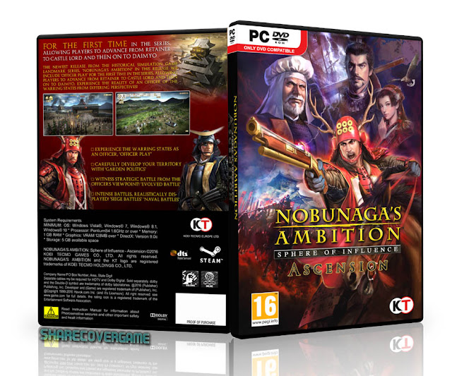 NOBUNAGA'S AMBITION Sphere of Influence Ascension Cover Box