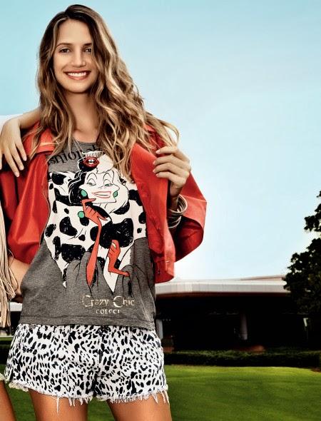 968ce0fb2 As Tshirts já estão a venda e os preços variam de R$129,00 á R$199,00. A  que eu mais gostei foi essa da Cruella (1° foto), assim que for no shopping  com ...