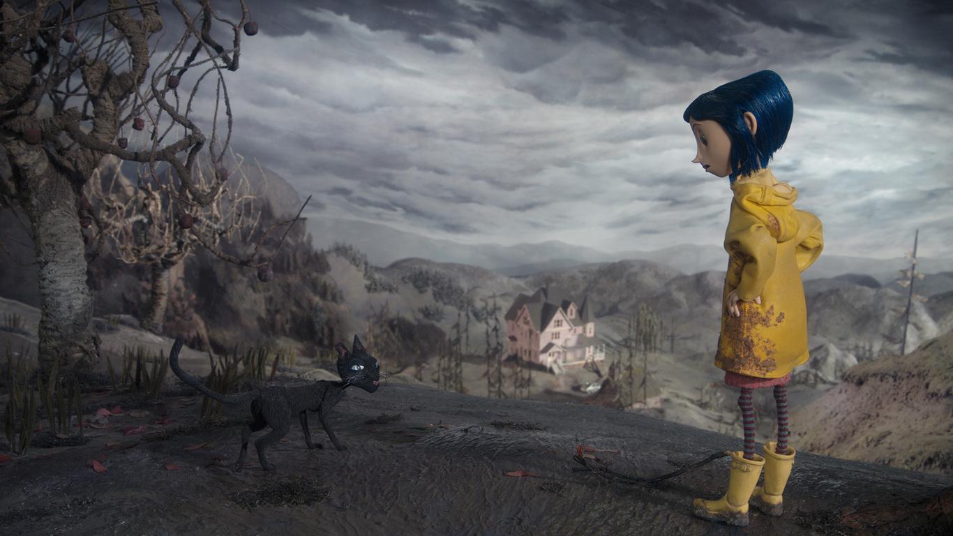 Coraline y la puerta secreta (HD 1080P y Español- Inglés 2009) (2) poster box code