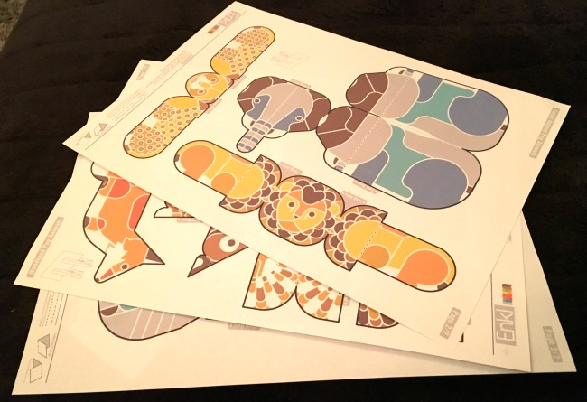 Twinkl resources flat printed shapes for 3D animals