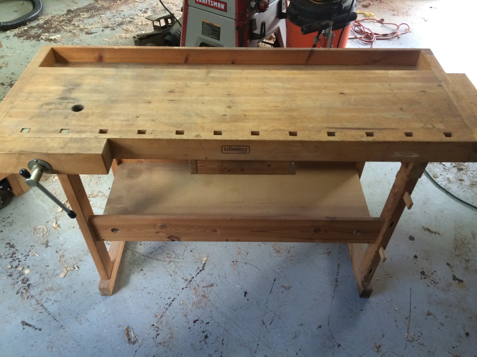 Willow Wood Shop: New Sjoberg shop workbench