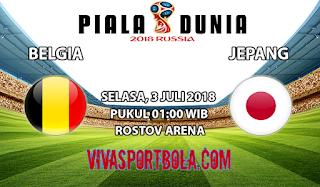 Prediksi Bola Belgia vs Jepang 3 Juli 2018
