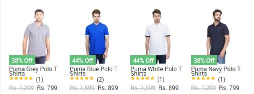 Special Discount for Puma T Shirts
