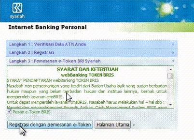 Cara Daftar Internet Banking BRI Syariah