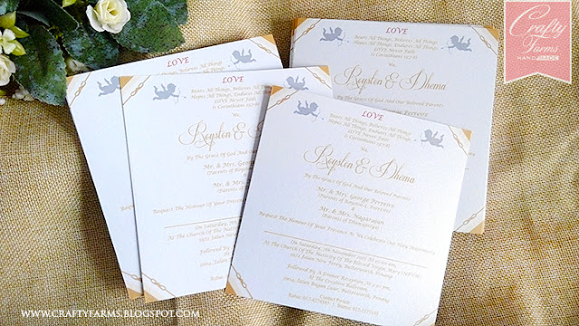 Gold and White Themed Wedding Card Printing, Kad Kahwin