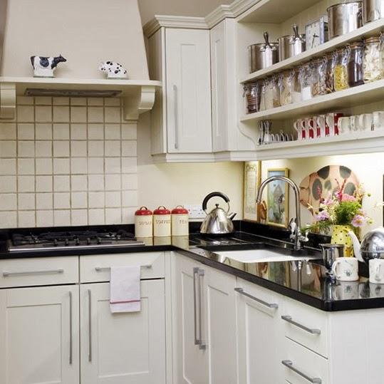 15 fotos de cocinas peque as colores en casa for Estanterias cocinas pequenas