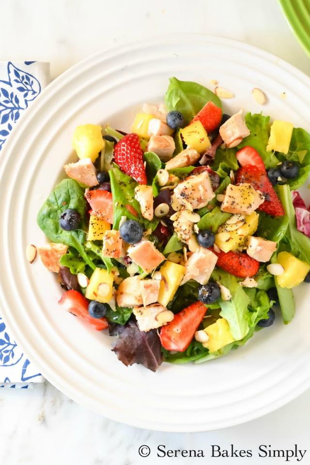 Pineapple Blueberry Chicken Salad