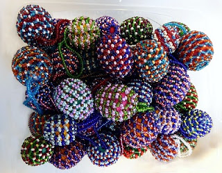Hard-Boiled Eggs Wrapped in Beads