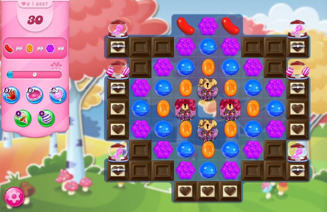 Candy Crush Saga level 6257