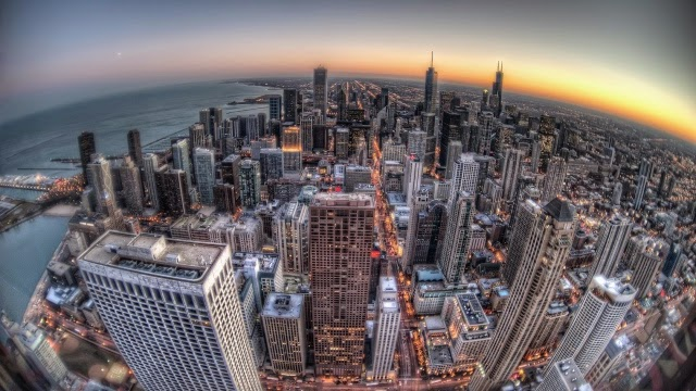 chicago, buildings, skyscrapers Desktop Full HD Wallpaper