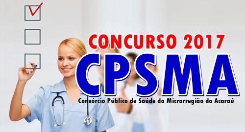 Concurso CPSMA Acaraú CE 2017