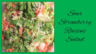 Sour Strawberry Raisins Salad