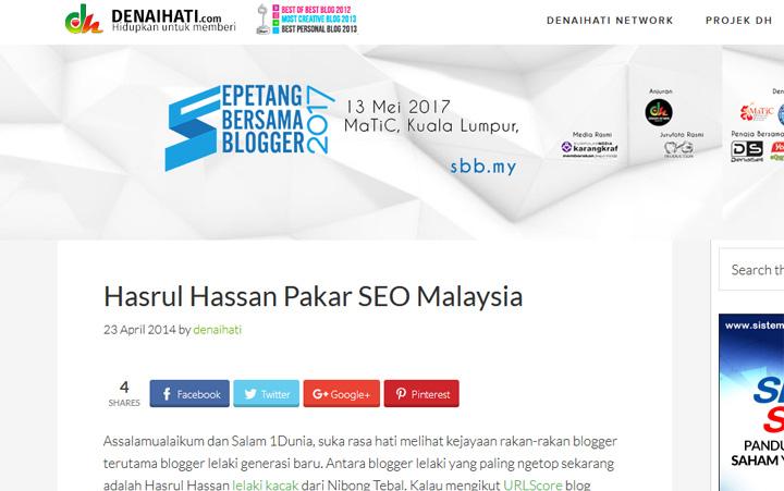 Tulis blog dan menjadi seorang pakar SEO Malaysia