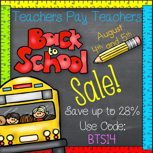 Back to School Tpt Sale