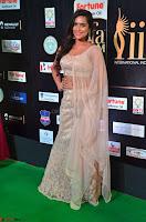 Prajna Actress in backless Cream Choli and transparent saree at IIFA Utsavam Awards 2017 0027.JPG