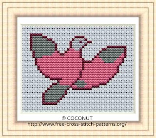 Bird (17) , Free and easy printable cross stitch pattern