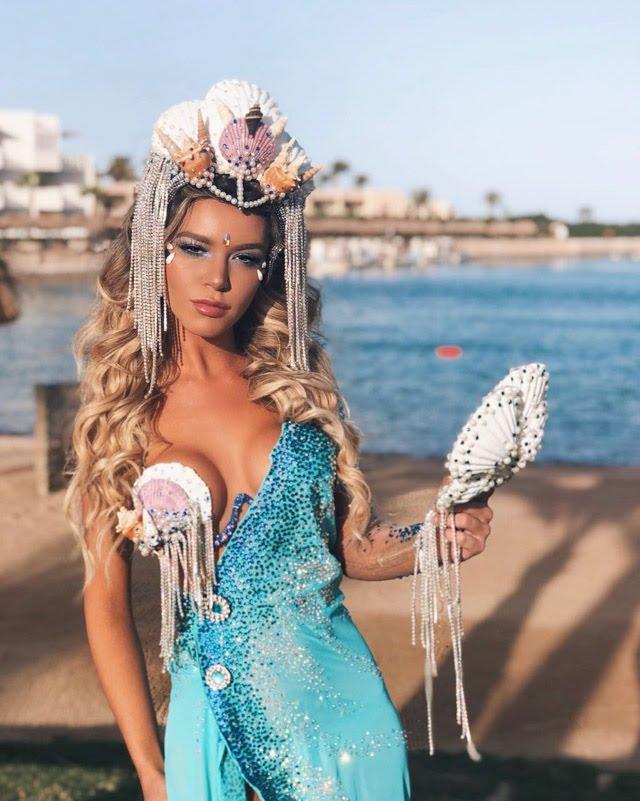 Amanda Cardoso esbanja beleza com look sereia. Foto: Acervo Pessoal