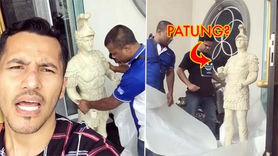 (Video) Ni la orang kata akai letak celah kangkang  Aliff Syukri Dikecam Letak Patung Depan Rumah