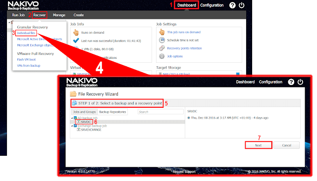 Nakivo Backup & Replication  asistente de File Recovery.