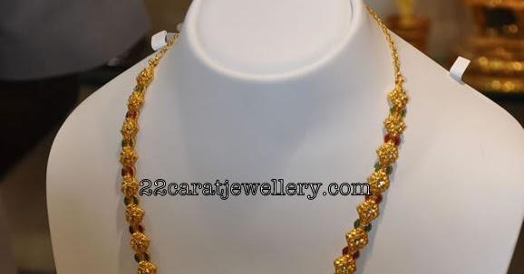 e0106fd2c8805 Gold Gundla Mala from Grt Jewellery(Traditional Jewellery ...