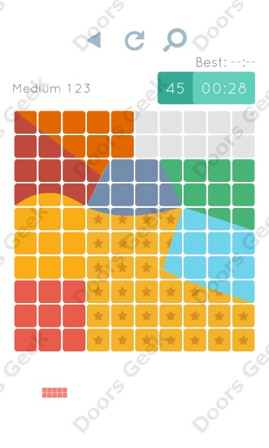 Cheats, Walkthrough for Blocks and Shapes Medium Level 123