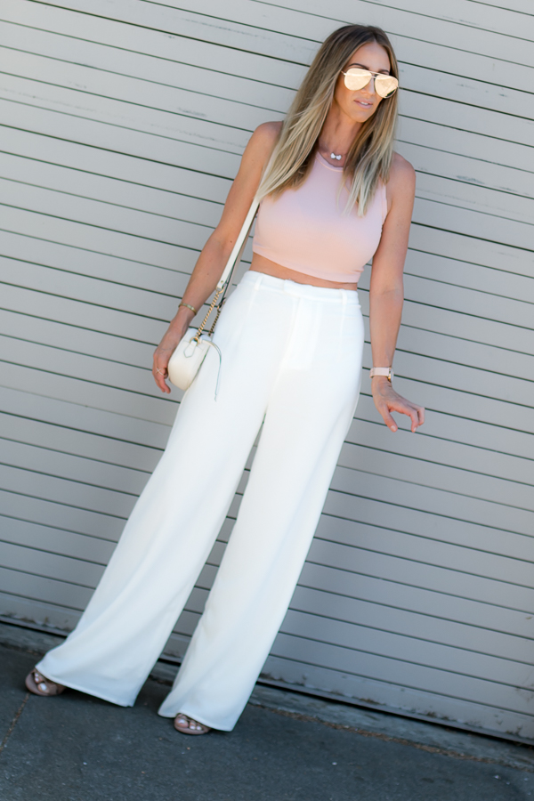 white pants parlor girl