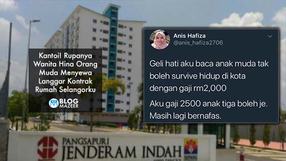 Tembelang Wanita Hina Orang Muda Menyewa Pecah, Rupanya Langgar Kontrak Rumah Selangorku