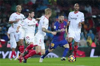 موعد مباراة برشلونة وأشبيليه كاس السوبر الإسباني 2018